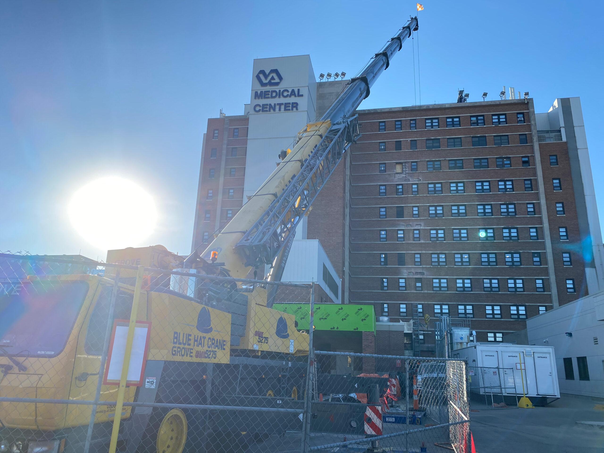 Kansas City VA Outdoor Building with Crane